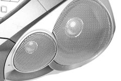 Close-up speakers of tape recorder Stock Image