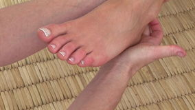 Close up of a special foot massage Stock Photo