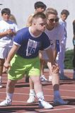 Close-up of Special Olympic Athlete Royalty Free Stock Photos
