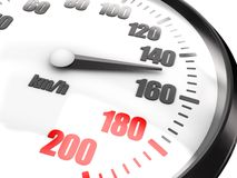 Close-up of speedometer Royalty Free Stock Photography