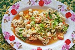 Spicy seafood salad,Thai food stock image