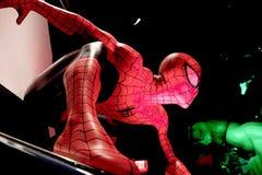Close up Spiderman. LAS VEGAS, USA - Oct 10, 2017: Close up Spiderman, Madame Tussauds museum in Las Vegas stock photography