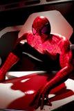 Close up Spiderman. LAS VEGAS, USA - Oct 10, 2017: Close up Spiderman, Madame Tussauds museum in Las Vegas stock image