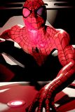 Close up Spiderman. LAS VEGAS, USA - Oct 10, 2017: Close up Spiderman, Madame Tussauds museum in Las Vegas royalty free stock images