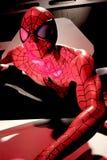 Close up Spiderman. LAS VEGAS, USA - Oct 10, 2017: Close up Spiderman, Madame Tussauds museum in Las Vegas stock images