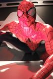 Close up Spiderman. LAS VEGAS, USA - Oct 10, 2017: Close up Spiderman, Madame Tussauds museum in Las Vegas stock images