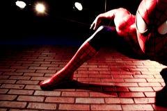 Close up Spiderman. LAS VEGAS, USA - Oct 29, 2016: Close up Spiderman, Madame Tussauds museum in Las Vegas royalty free stock image