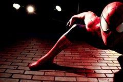 Close up Spiderman. LAS VEGAS, USA - Oct 29, 2016: Close up Spiderman, Madame Tussauds museum in Las Vegas royalty free stock photos
