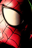 Close up Spiderman. LAS VEGAS, USA - Oct 29, 2016: Close up Spiderman, Madame Tussauds museum in Las Vegas stock photos