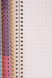 Spiral bound exercise book Royalty Free Stock Photo