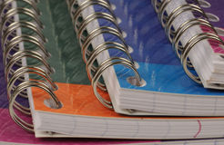 Spiral bound exercise book Stock Photo