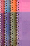 Spiral bound exercise book Stock Photo