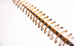 Close-up of a spiral notebook Royalty Free Stock Images