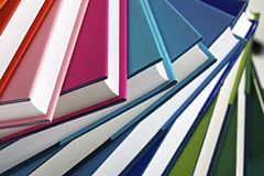 Close-up of spiral stack of books Royalty Free Stock Images