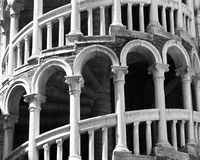 Close up of a Spiral Staircase Royalty Free Stock Photo