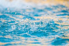 Close up of splash of water, Water Surface. It motion royalty free stock photos