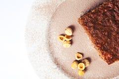 Close up of sponge cake. Royalty Free Stock Image