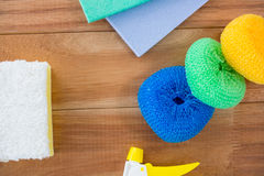 Close up of sponge on table Royalty Free Stock Photography