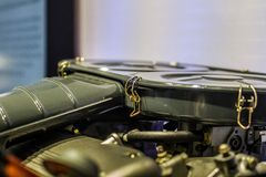 Close up of sport engine air filter stock image