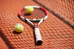 Close up of sport equipment for tennis Royalty Free Stock Photography