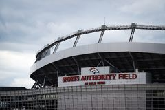 Sports Authority Field at Mile High in Denver stock image