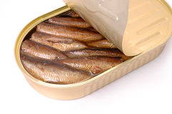Close-up of sprats can Stock Photo