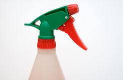 Close up of spray bottle head and nozzle Stock Photo