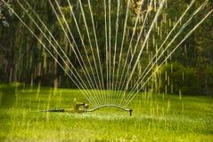 Close up sprinkler stock photo