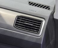 The close up of sqare air vent of luxurious car. The close up of square air vent of luxurious car royalty free stock images