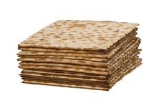 Close up of square matza Royalty Free Stock Image