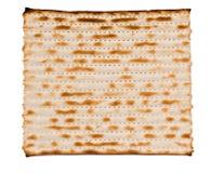 Close up of square matza. Isolated on white background Stock Photography