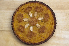 Close up of Squash Pie Royalty Free Stock Photography