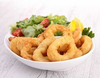 Squid rings. Close up on squid rings Stock Photography