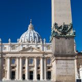 Close-up of St Peters Basilica Stock Image