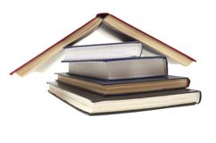 Close up of stack of books Royalty Free Stock Images