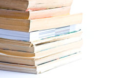 A close up stack of books isolated Royalty Free Stock Images