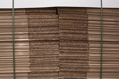 Close up of a stack of cardboard Royalty Free Stock Photo