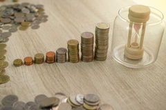 Close up of stack of coins. Money, Financial, Business Growth concept Stock Image