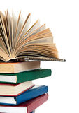 Close up of stack of colorful books Royalty Free Stock Photo