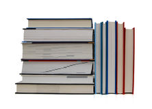Close up of stack of colorful books Royalty Free Stock Photography