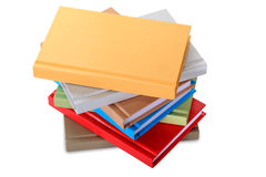Close up of stack of colorful books Royalty Free Stock Image