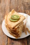 Stack of crepe. Close up on stack of crepe royalty free stock image