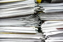 Close-up of a stack of files and folders Royalty Free Stock Photos