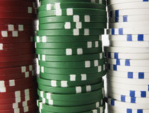 Close-Up of Stack of Gambling Chips Royalty Free Stock Photography