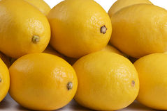 Close up of a stack of lemons Royalty Free Stock Photography