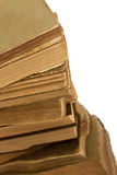 Close-up of a stack of old books Royalty Free Stock Photos