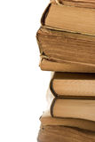 Close-up of a stack of old books Royalty Free Stock Image