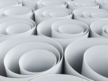 Close up of stack of paper pipes Royalty Free Stock Photos