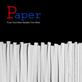 Close up of stack of papers Royalty Free Stock Photography