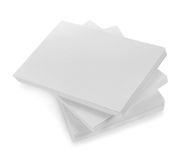 Close up of stack of papers with curl Stock Photos